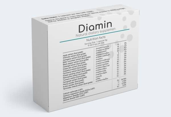 Diamin capsules